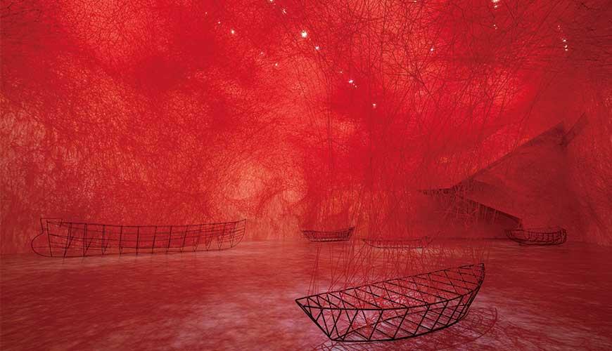 北美館「塩田千春:顫動的靈魂」