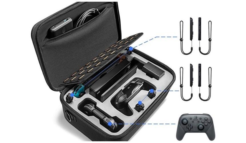 推薦必買10款任天堂NintendoSwitch收納包保護包TomtocSwitch大容量收納保護包