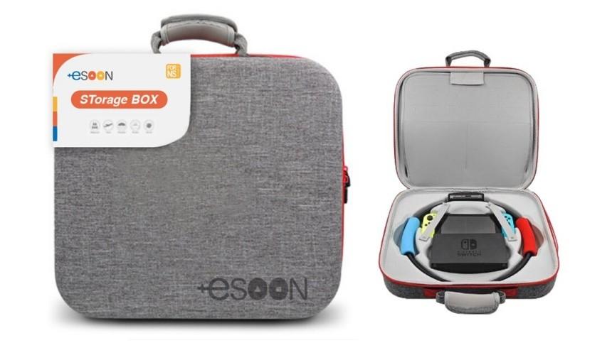 推薦必買10款任天堂NintendoSwitch收納包保護包esoonSwitch主機健身環收納包