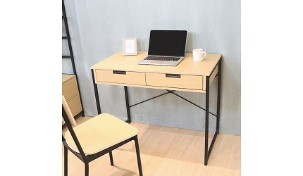 辦公書桌推薦電腦桌推介L型書桌挑選重點品牌天空樹生活館 無印風日系雙抽屜書桌