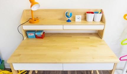 兒童書桌推薦成長書桌推介台灣製實木書桌高度選購指南文章收拾好的桌面