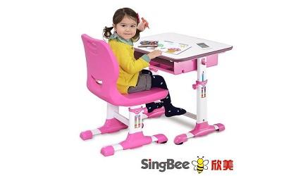 兒童書桌推薦成長書桌推介台灣製實木書桌高度選購指南文章欣美 小天使環保課桌椅