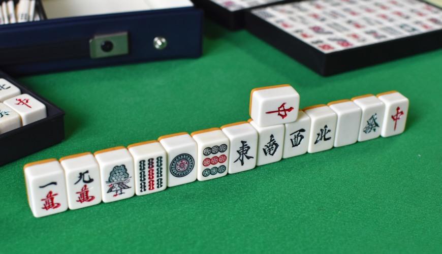 日文四字熟語成語「国士無双」(麻將十三么九牌)示意圖