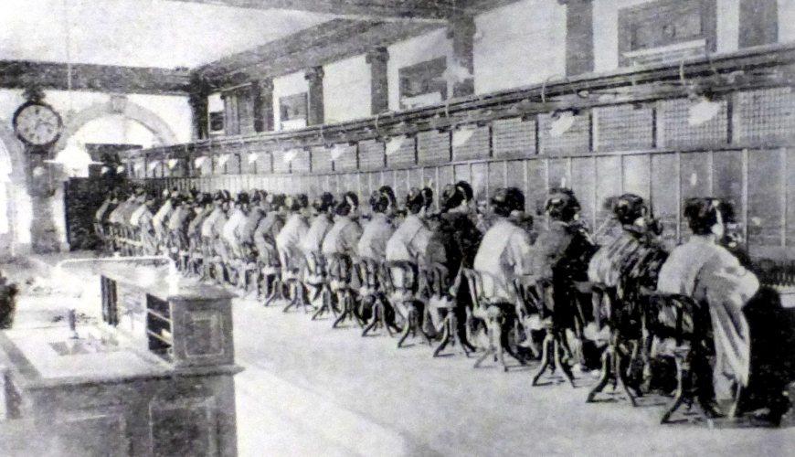 日語的「もしもし」文章:日本電話局交換手(接線生)歷史圖片