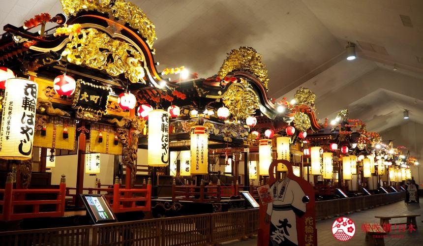 秋田縣鹿角道之驛Antora花輪囃子祭出現的山車展示