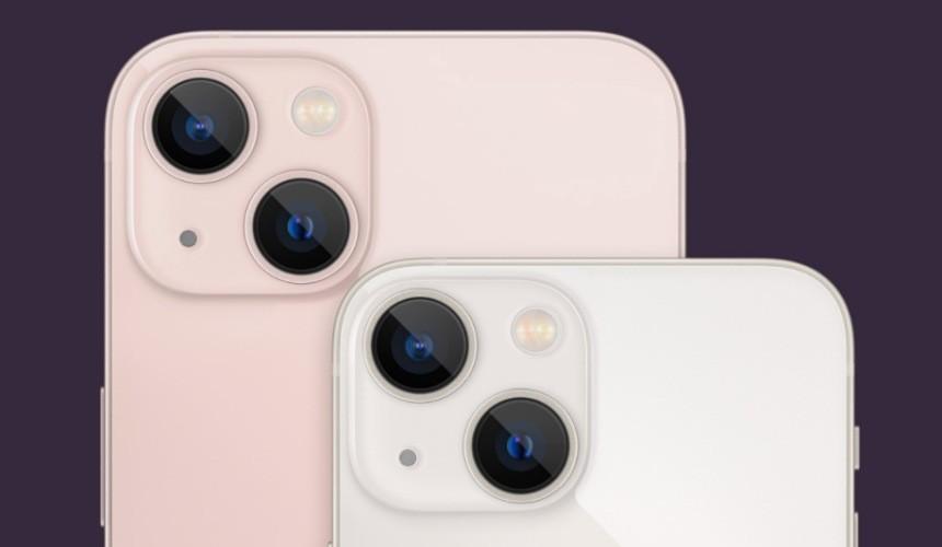 iPhone 13 系列雙鏡頭規格改為斜角示意圖